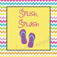 Flip Flop Pool Party Favor Tag
